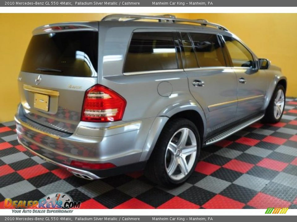 2010 Mercedes Benz Gl 550 4matic Palladium Silver Metallic