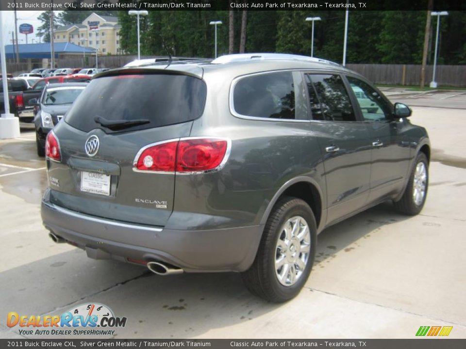2011 Buick Enclave Cxl Silver Green Metallic Titanium