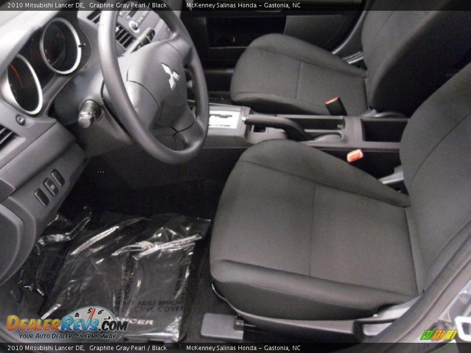 Black Interior 2010 Mitsubishi Lancer De Photo 8
