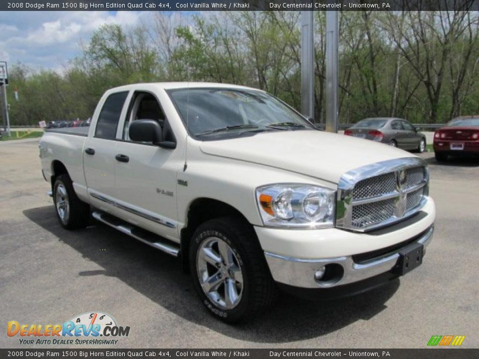 2008 dodge ram 1500 big horn edition quad cab 4x4 cool vanilla white khaki photo 6. Black Bedroom Furniture Sets. Home Design Ideas