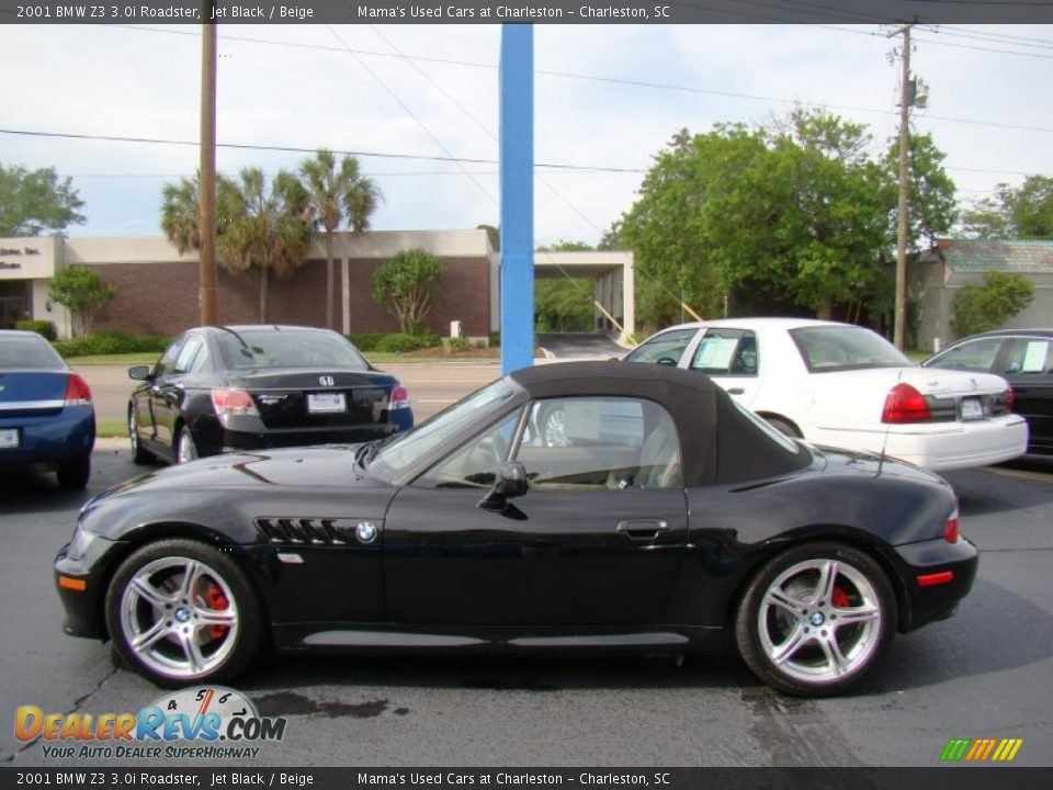 Jet Black 2001 Bmw Z3 3 0i Roadster Photo 5 Dealerrevs Com