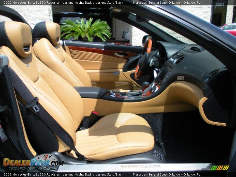 designo sand black interior 2009 mercedes benz sl 550 roadster photo 18. Black Bedroom Furniture Sets. Home Design Ideas