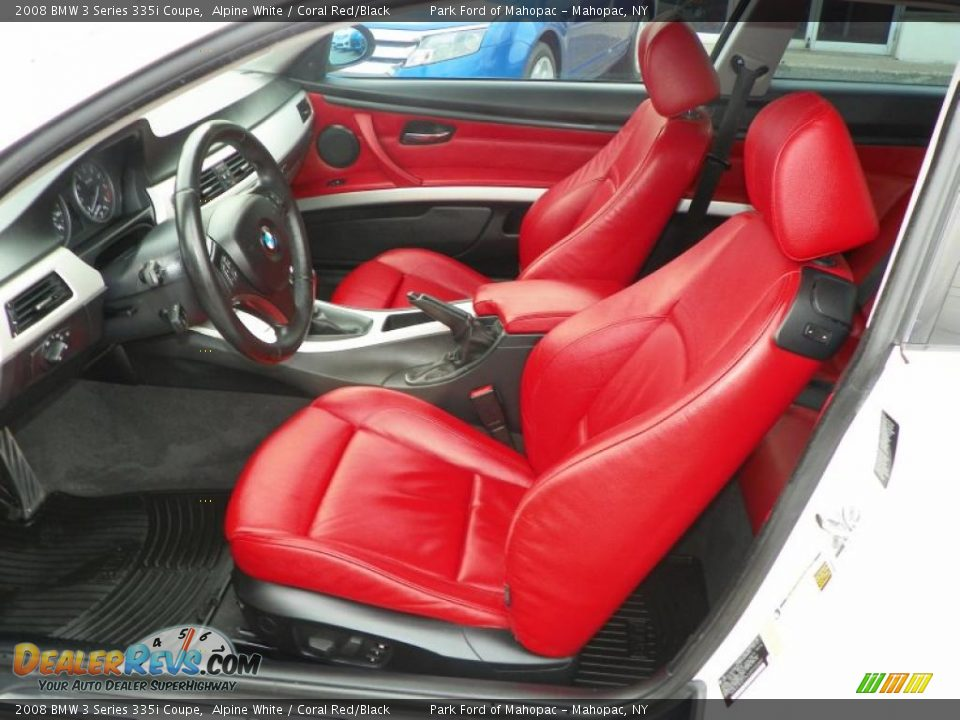 Coral Red Black Interior 2008 Bmw 3 Series 335i Coupe Photo 5