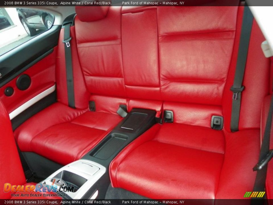 Coral Red Black Interior 2008 Bmw 3 Series 335i Coupe Photo 6