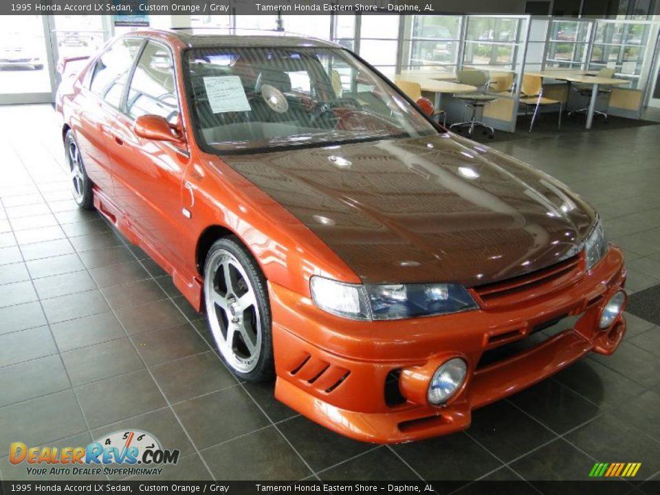 1995 honda accord lx sedan custom orange gray photo 8 dealerrevs com dealerrevs com