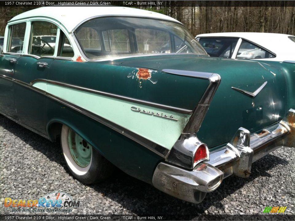 1957 chevrolet 210 4 door highland green dark green for 1957 chevy 210 4 door