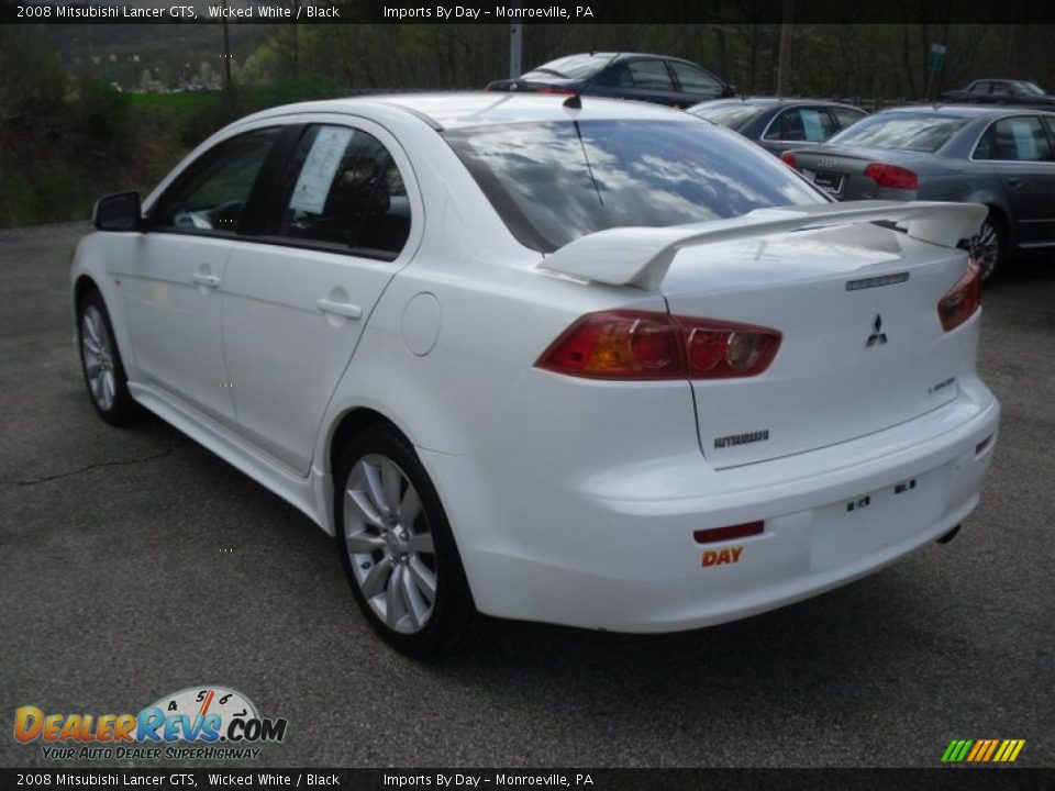 2008 mitsubishi lancer gts wicked white black photo 4. Black Bedroom Furniture Sets. Home Design Ideas