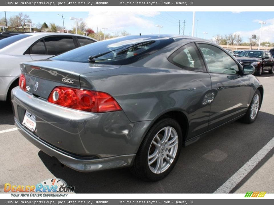 2005 Acura Rsx Sports Coupe Jade Green Metallic Titanium Photo 2