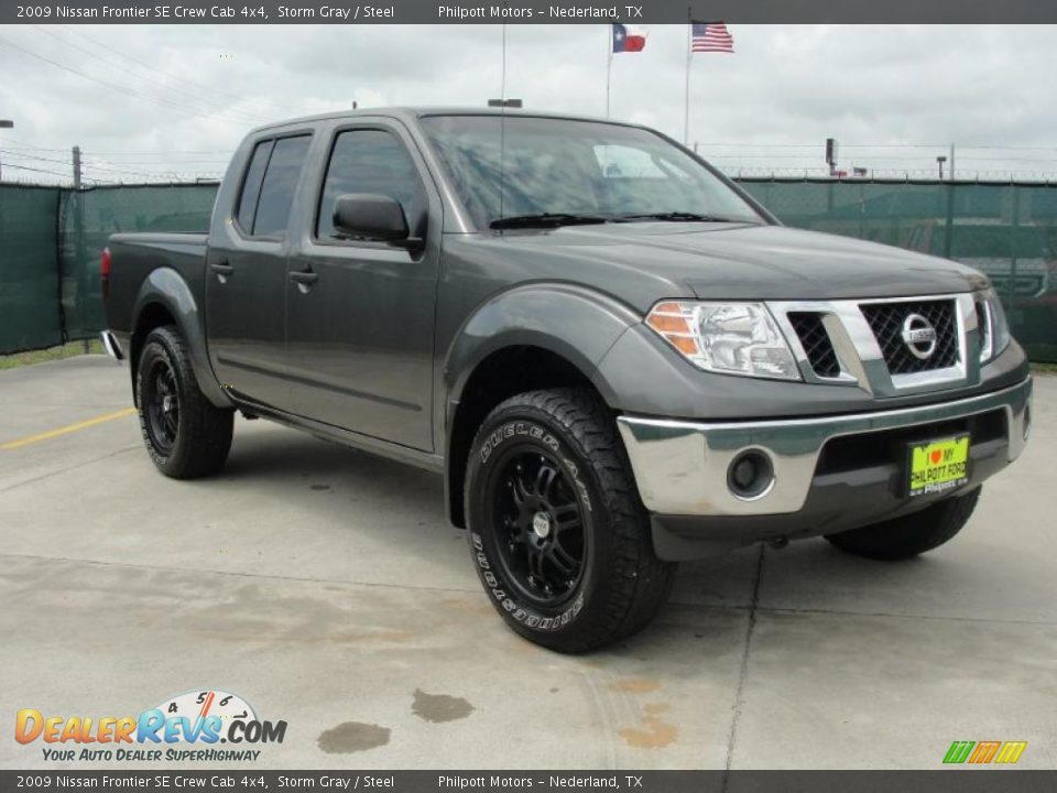 2009 nissan frontier se crew cab 4x4 storm gray steel photo 1. Black Bedroom Furniture Sets. Home Design Ideas