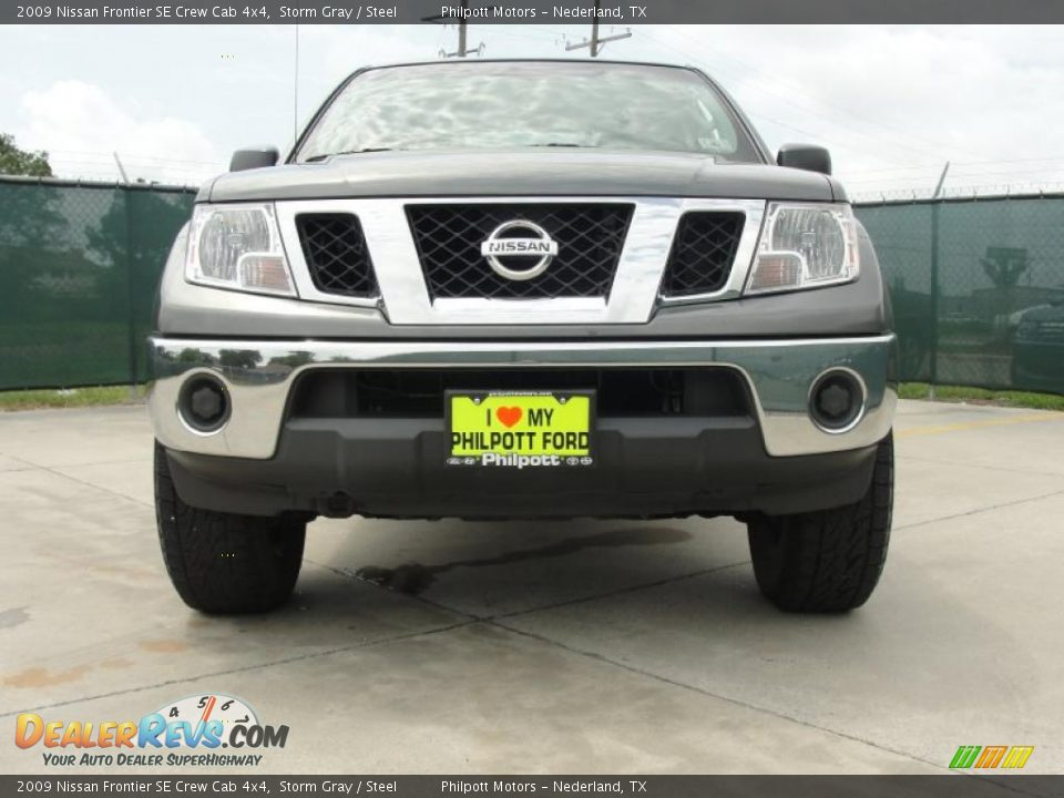 2009 nissan frontier se crew cab 4x4 storm gray steel photo 9. Black Bedroom Furniture Sets. Home Design Ideas