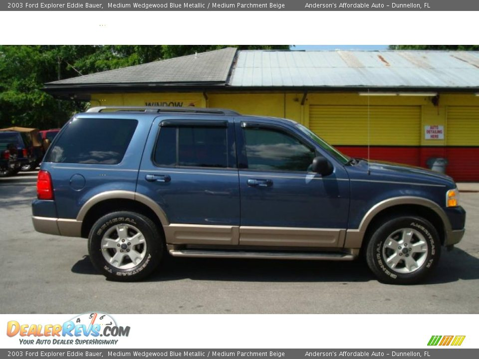 2003 ford explorer eddie bauer medium wedgewood blue metallic medium parchment beige photo 2. Black Bedroom Furniture Sets. Home Design Ideas