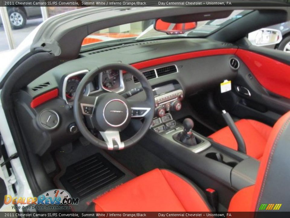 inferno orange black interior 2011 chevrolet camaro ss. Black Bedroom Furniture Sets. Home Design Ideas