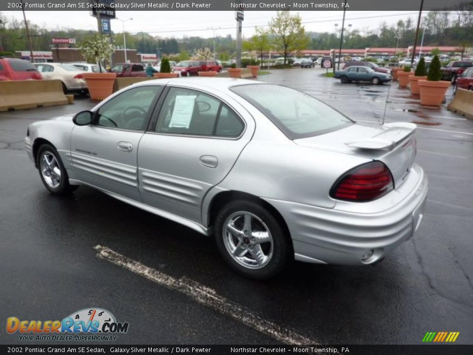 2002 pontiac grand am se sedan galaxy silver metallic dark pewter photo 5. Black Bedroom Furniture Sets. Home Design Ideas