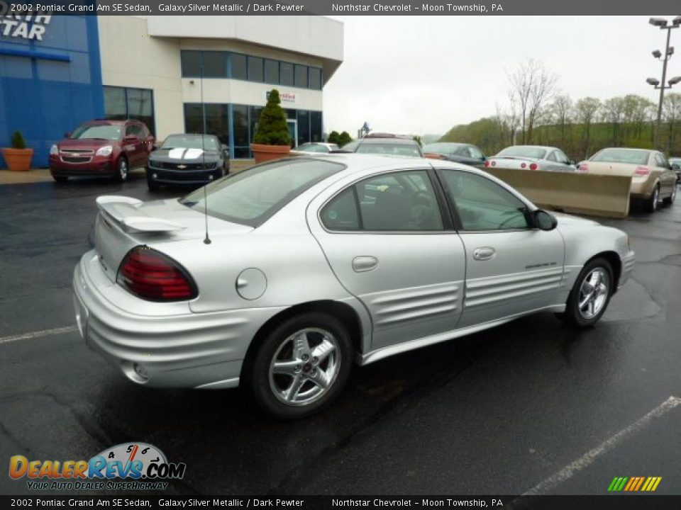2002 pontiac grand am se sedan galaxy silver metallic dark pewter photo 10. Black Bedroom Furniture Sets. Home Design Ideas