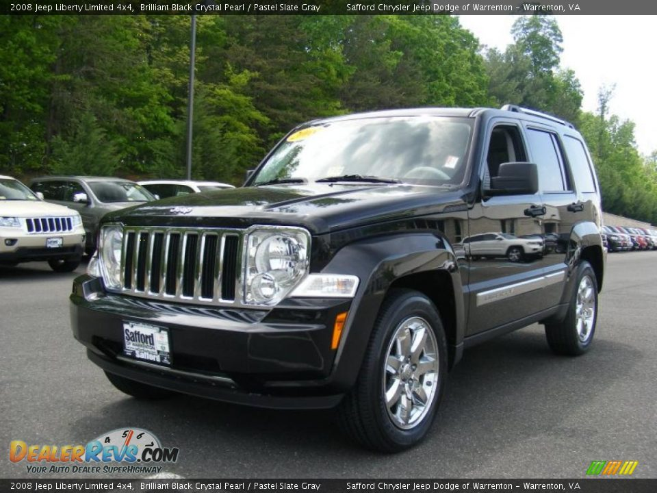 2008 Jeep Liberty Limited 4x4 Brilliant Black Crystal ...