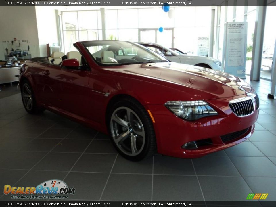 2010 bmw 6 series 650i convertible imola red cream beige. Black Bedroom Furniture Sets. Home Design Ideas