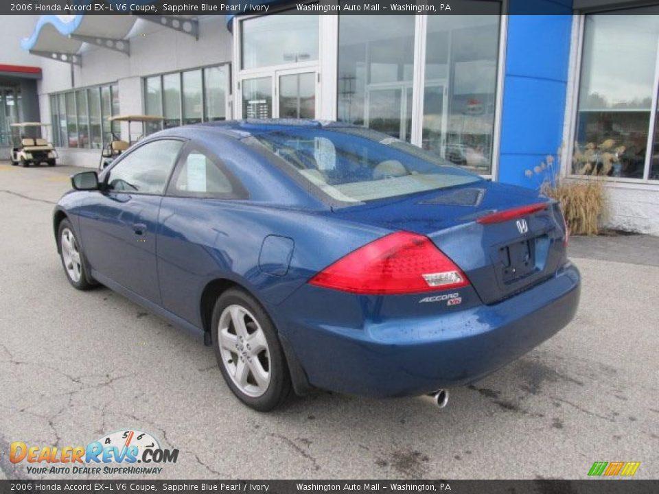2006 Honda Accord Ex L V6 Coupe Sapphire Blue Pearl