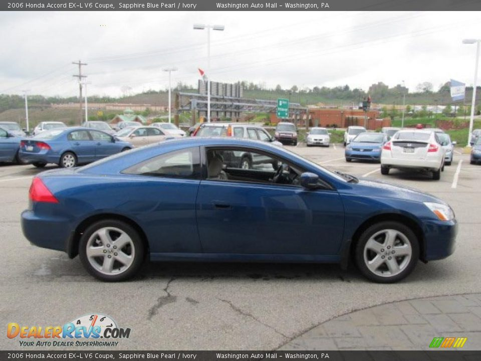 2006 honda accord ex l v6 coupe sapphire blue pearl ivory photo 10. Black Bedroom Furniture Sets. Home Design Ideas