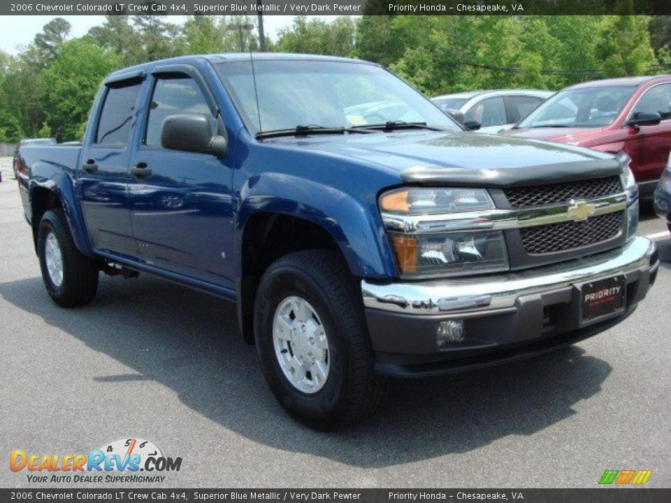 2006 chevrolet colorado lt crew cab 4x4 superior blue metallic very dark pewter photo 6. Black Bedroom Furniture Sets. Home Design Ideas