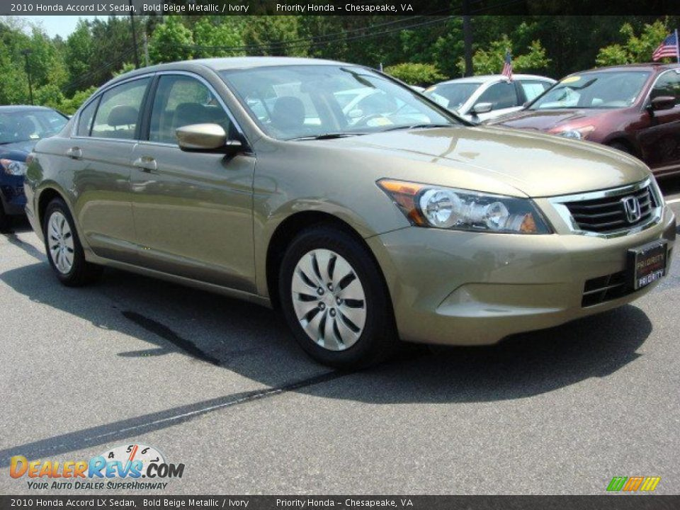 2010 honda accord lx sedan bold beige metallic ivory. Black Bedroom Furniture Sets. Home Design Ideas
