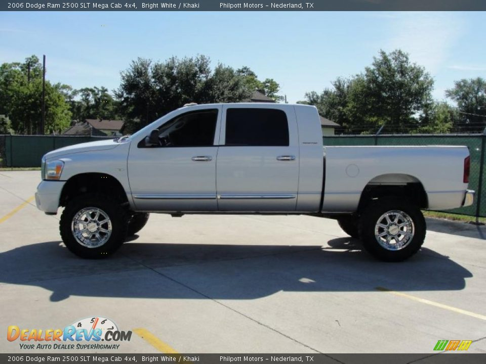 2006 dodge ram 2500 slt mega cab 4x4 bright white khaki. Black Bedroom Furniture Sets. Home Design Ideas