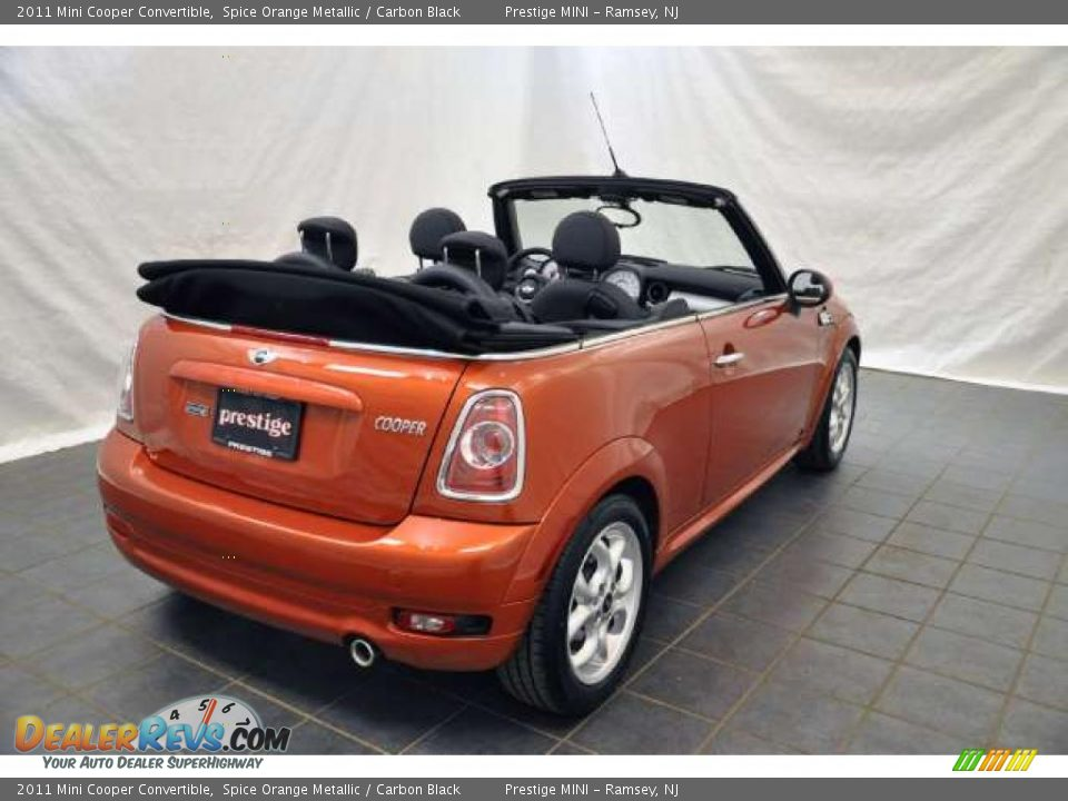 2011 mini cooper convertible spice orange metallic carbon black photo 2. Black Bedroom Furniture Sets. Home Design Ideas