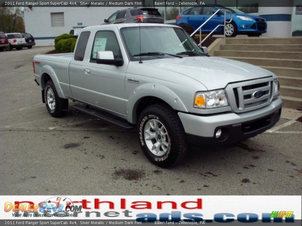 2011 ford ranger sport supercab 4x4 silver metallic medium dark flint photo 2. Black Bedroom Furniture Sets. Home Design Ideas