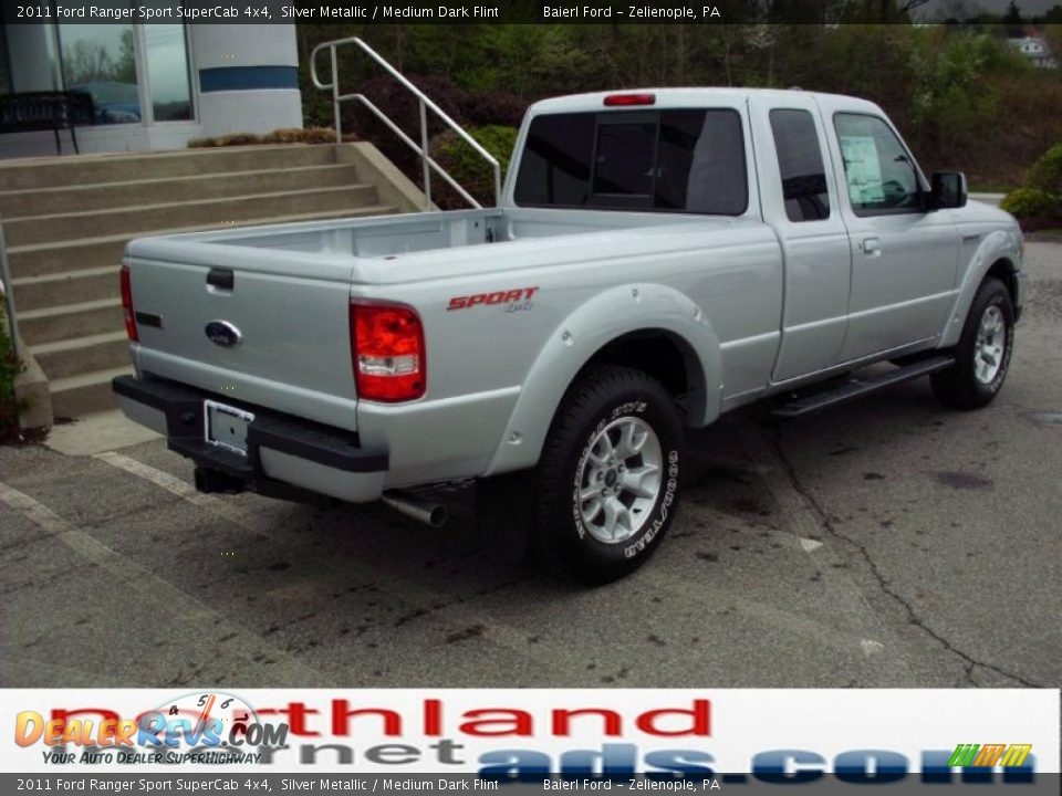 2011 ford ranger sport supercab 4x4 silver metallic medium dark flint photo 7. Black Bedroom Furniture Sets. Home Design Ideas
