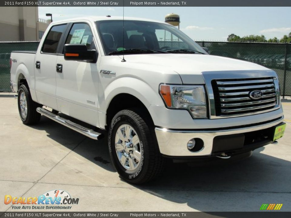 2011 ford f150 xlt supercrew 4x4 oxford white steel gray photo 1. Black Bedroom Furniture Sets. Home Design Ideas