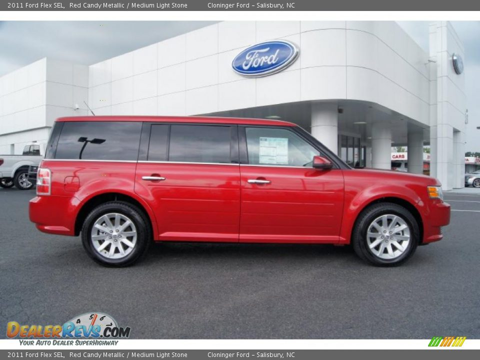 red candy metallic 2011 ford flex sel photo 2. Black Bedroom Furniture Sets. Home Design Ideas