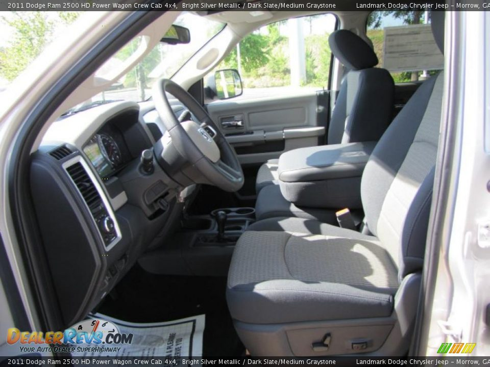 Dark Slate Medium Graystone Interior 2011 Dodge Ram 2500 Hd Power Wagon Crew Cab 4x4 Photo 7