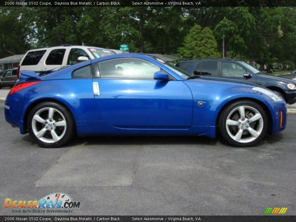 2006 nissan 350z coupe daytona blue metallic carbon. Black Bedroom Furniture Sets. Home Design Ideas