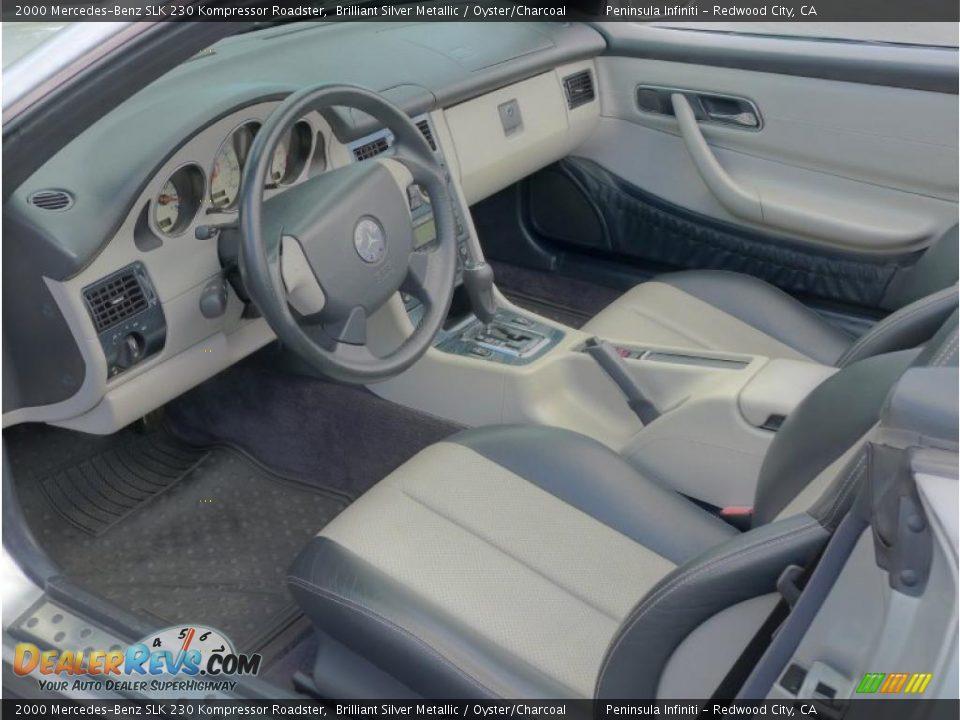 oyster charcoal interior 2000 mercedes benz slk 230 kompressor roadster photo 7. Black Bedroom Furniture Sets. Home Design Ideas