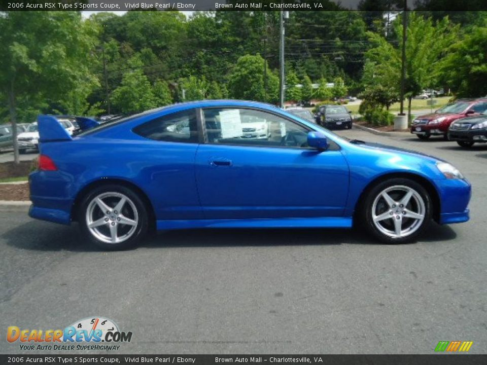 2006 Acura RSX Type S Sports Coupe Vivid Blue Pearl / Ebony Photo #6 ...