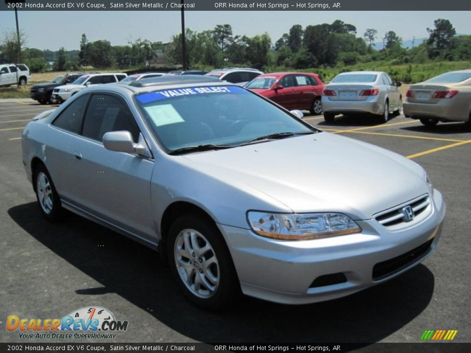 2002 honda accord ex v6 coupe satin silver metallic charcoal photo 7. Black Bedroom Furniture Sets. Home Design Ideas