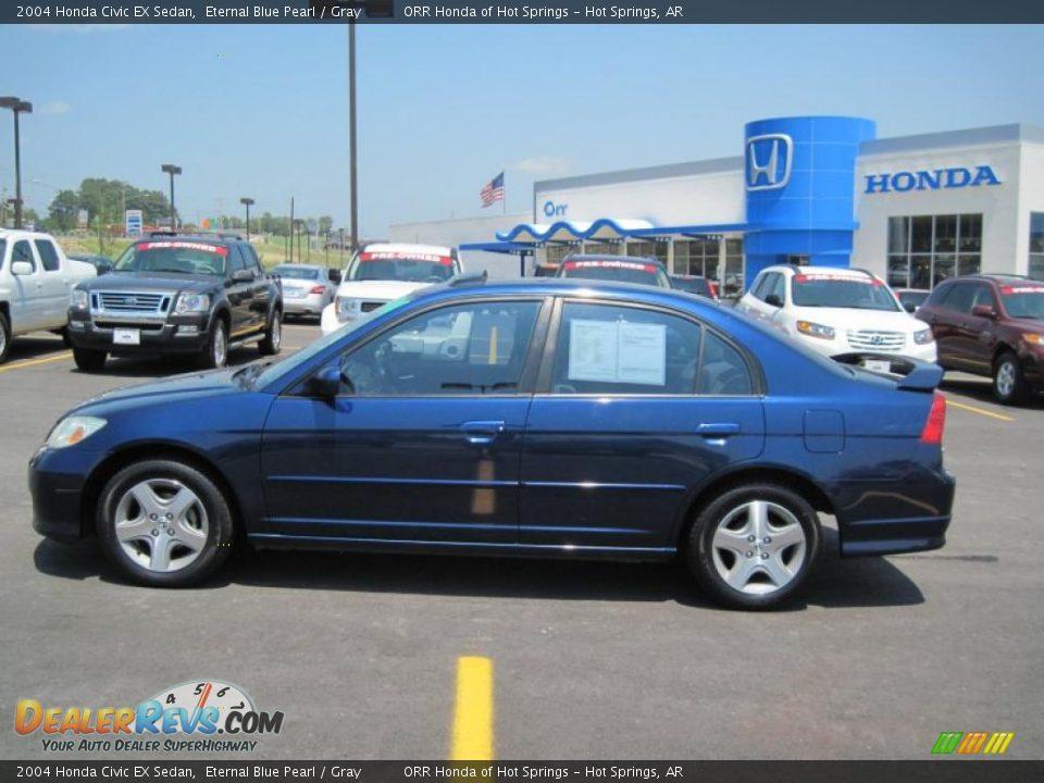 2004 Honda Civic Ex Sedan Eternal Blue Pearl Gray Photo