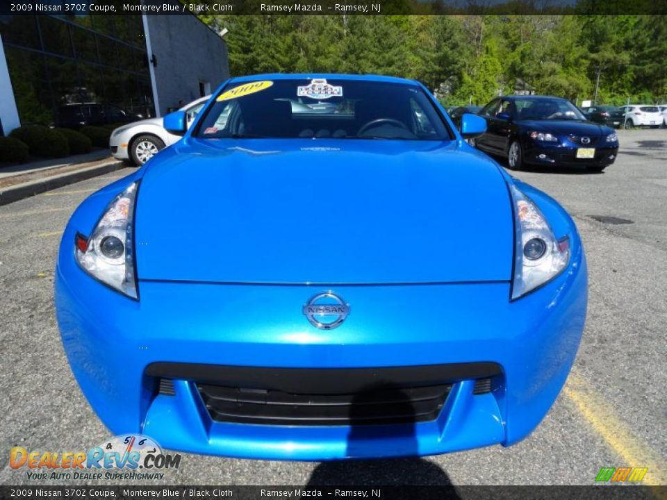 2009 Nissan 370z Coupe Monterey Blue Black Cloth Photo 5 Dealerrevs Com