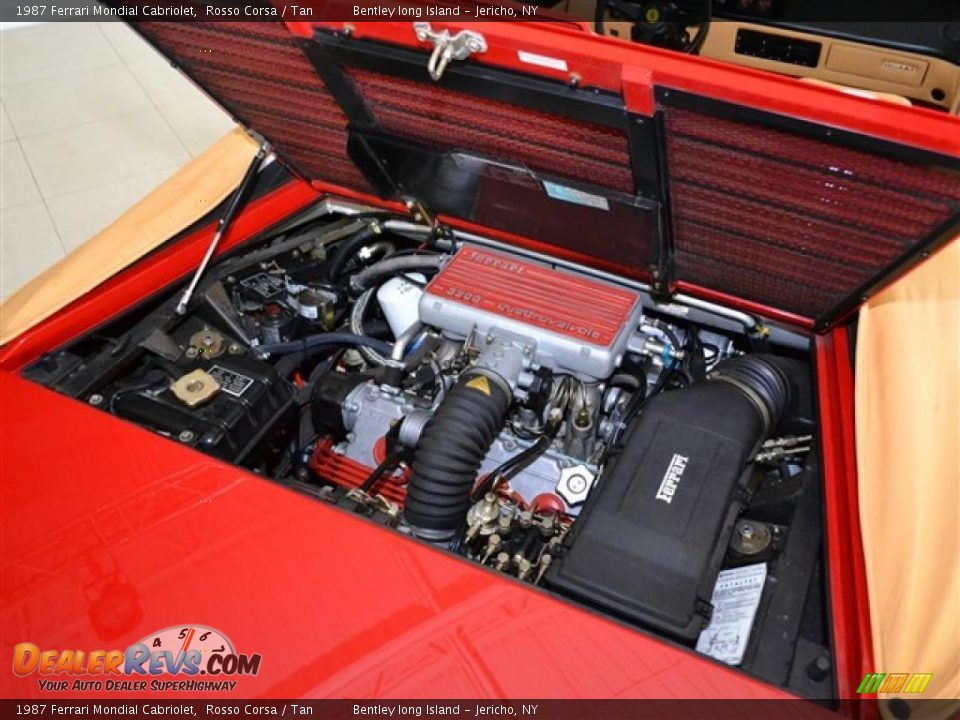 1987 ferrari mondial cabriolet 3 2 liter dohc 32 valve v8 engine photo 24. Black Bedroom Furniture Sets. Home Design Ideas