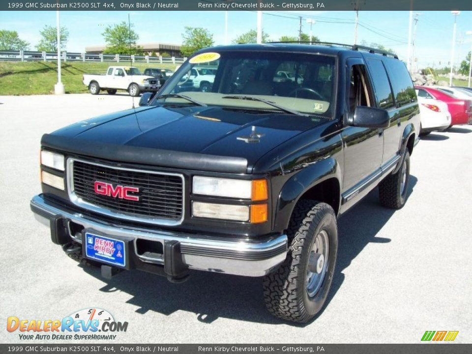 1999 gmc suburban k2500 slt 4x4 onyx black neutral photo 11. Black Bedroom Furniture Sets. Home Design Ideas