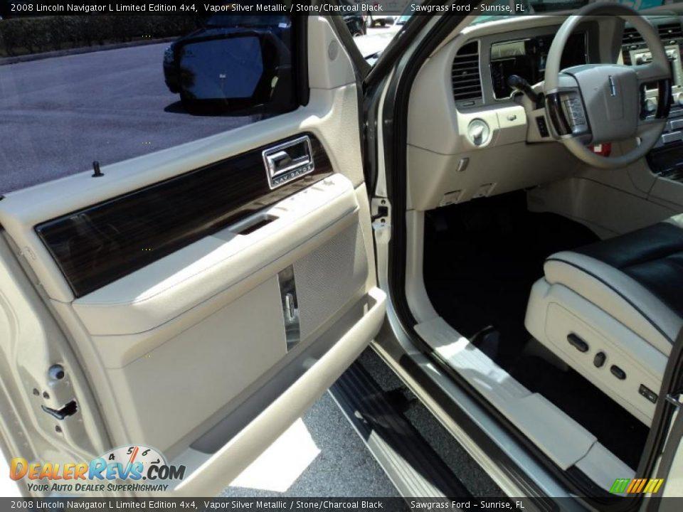 Stone Charcoal Black Interior 2008 Lincoln Navigator L Limited Edition 4x4 Photo 16