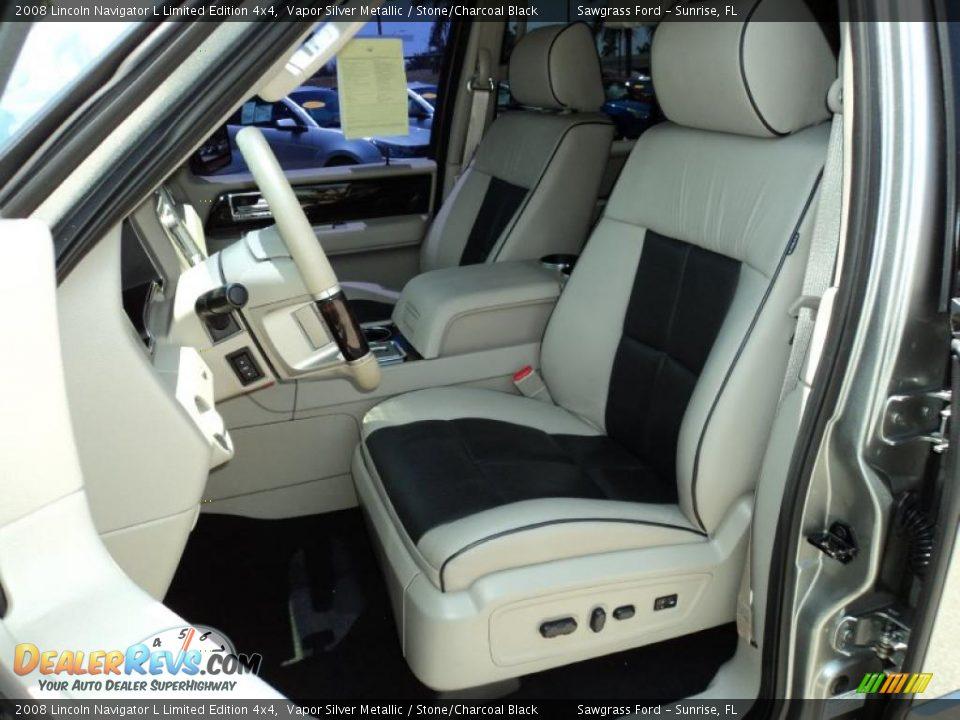 Stone Charcoal Black Interior 2008 Lincoln Navigator L Limited Edition 4x4 Photo 18