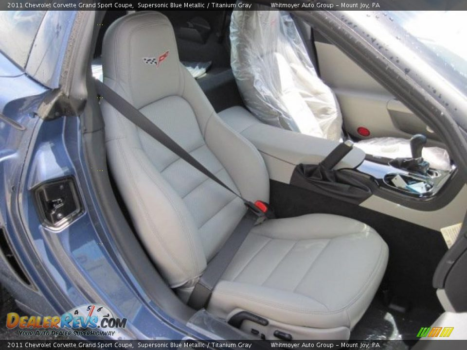 Titanium Gray Interior 2011 Chevrolet Corvette Grand Sport Coupe Photo 9