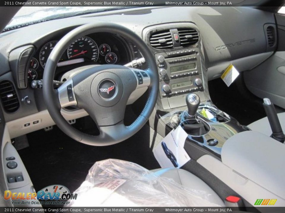 Titanium Gray Interior 2011 Chevrolet Corvette Grand Sport Coupe Photo 12