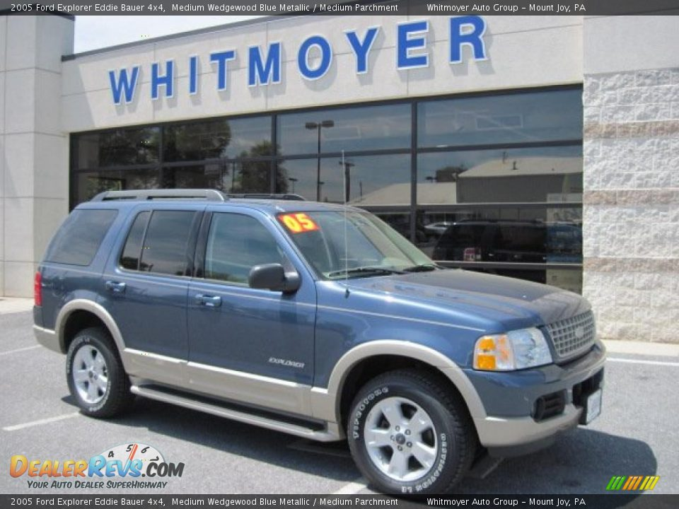 2005 ford explorer eddie bauer 4x4 medium wedgewood blue metallic medium parchment photo 1. Black Bedroom Furniture Sets. Home Design Ideas