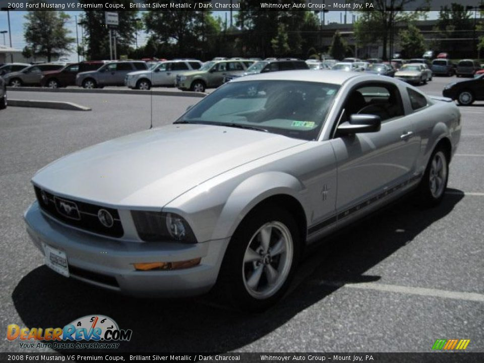 Ford Dealer Locator >> 2008 Ford Mustang V6 Premium Coupe Brilliant Silver Metallic / Dark Charcoal Photo #3 ...