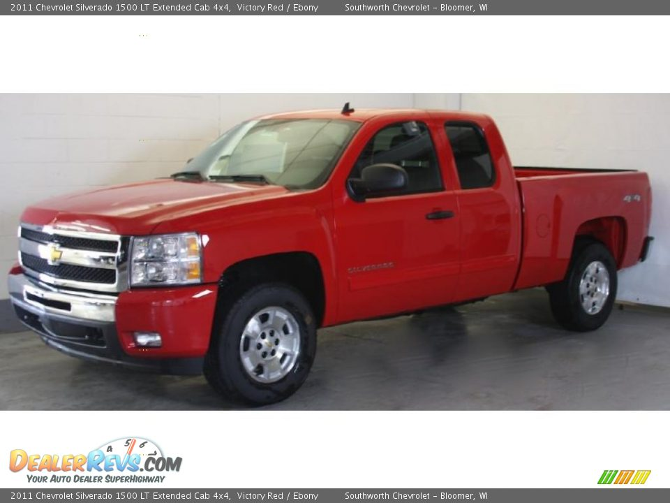 2011 chevrolet silverado 1500 lt extended cab 4x4 victory red ebony photo 4. Black Bedroom Furniture Sets. Home Design Ideas