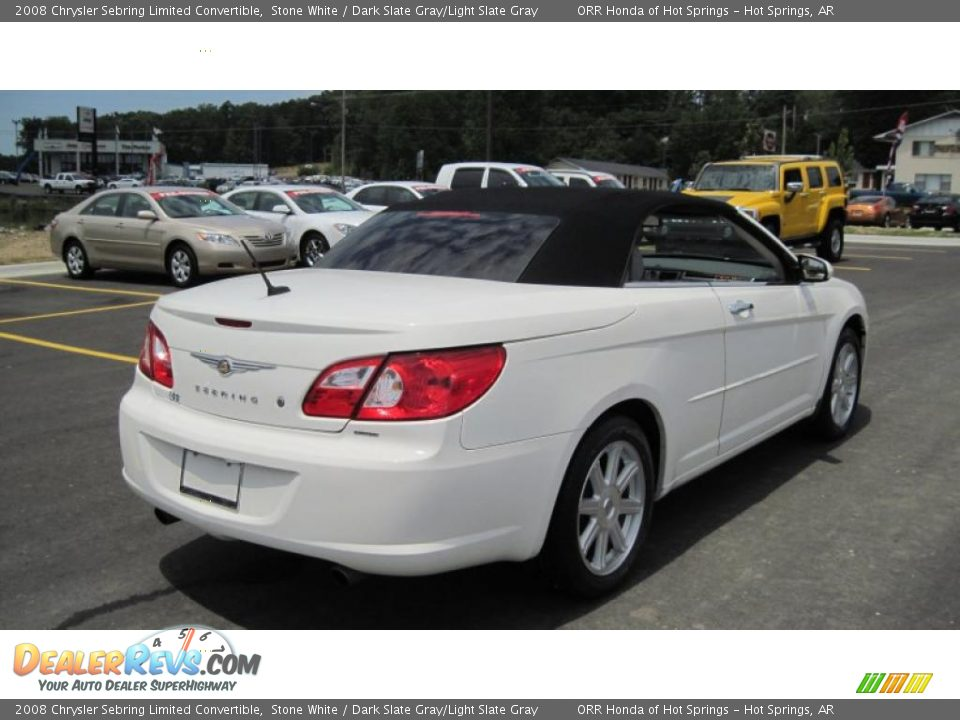2008 chrysler sebring limited convertible stone white dark slate. Cars Review. Best American Auto & Cars Review