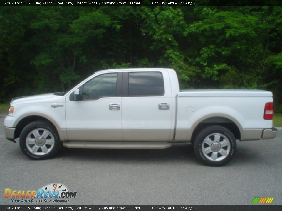 2007 Ford F150 King Ranch Supercrew Oxford White Castano