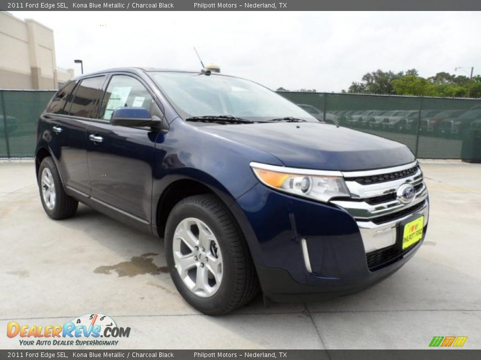 2011 ford edge sel kona blue metallic charcoal black. Black Bedroom Furniture Sets. Home Design Ideas
