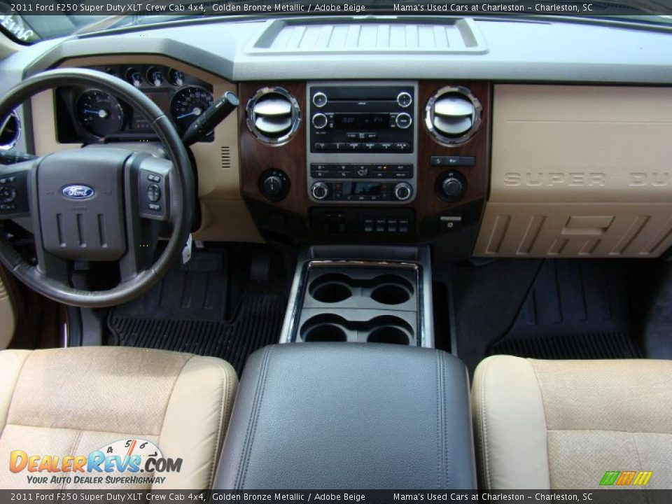 Ford F250 Super Duty XLT Crew Cab 4x4 Golden Bronze Metallic / Adobe ...